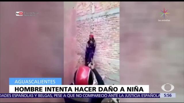 Policías de Aguascalientes rescatan a niña tomada como rehén por hombre drogado