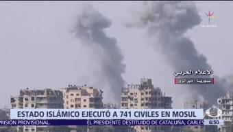 ONU: 741 civiles fueron ejecutados por el Estado Islámico en Mosul