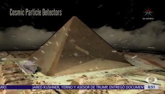 Descubren cámara secreta en el centro de la pirámide de Keops, Egipto