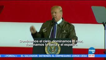 Trump ofrece mensaje a tropas estadounidenses en la Base Aérea de Yokota
