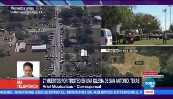 Tirador utilizó arma semiautomática en iglesia de Texas