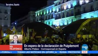 En espera de la declaración de Puigdemont