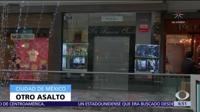 Balacera por asalto en centro comercial de Santa Fe