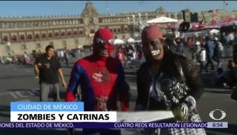 Zombies invaden el centro de la Ciudad de México