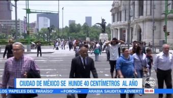 Extra, Extra: Ciudad de México se hunde 40 centímetros al año