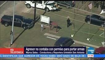 Atacante de Texas no contaba con permiso para portar armas