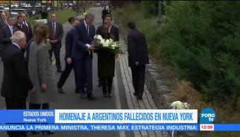 Rinden homenaje a argentinos fallecidos en Nueva York