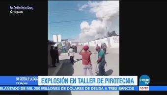 Explosión en taller de pirotecnia en San Cristóbal de las Casas