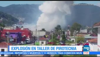 Así fue la explosión en un taller de pirotecnia en Chiapas