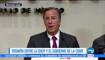Mancera y Meade anuncian apoyo para damnificados por el sismo en CDMX