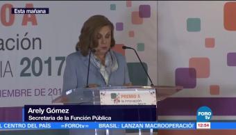 Titular de SFP participa en entrega del Premio a Innovación en Transparencia 2017
