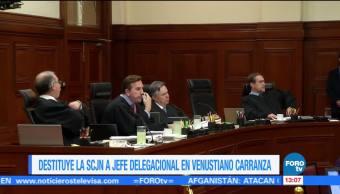SCJN ordena destituir y consignar al delegado de Venustiano Carranza, CDMX