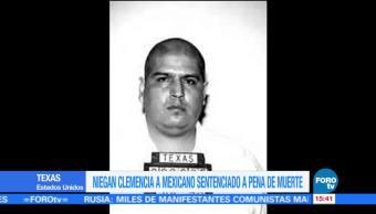 Niegan clemencia a mexicano sentenciado a pena de muerte en Texas