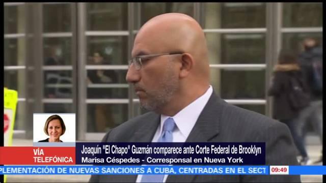 Joaquín El Chapo Guzmán comparece ante Corte Federal de Brooklyn