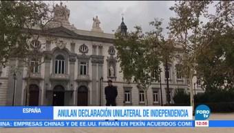 Anulan declaración de independencia de Cataluña