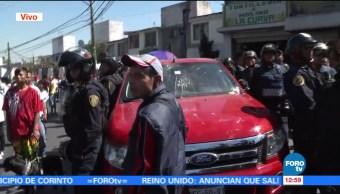 Se registra atropellamiento durante manifestación en avenida Centenario, CDMX