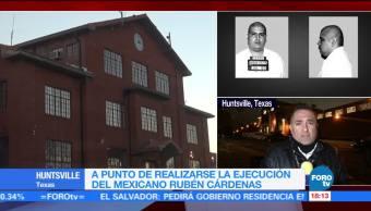 Mexicano Rubén Cárdenas espera ejecución en Texas