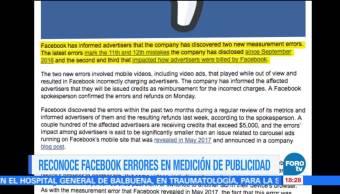 Facebook reconoce errores en la medición de publicidad