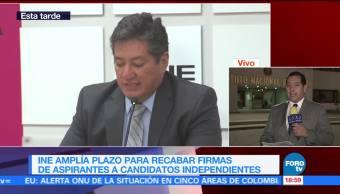 INE amplía plazo para que independientes recaben apoyos