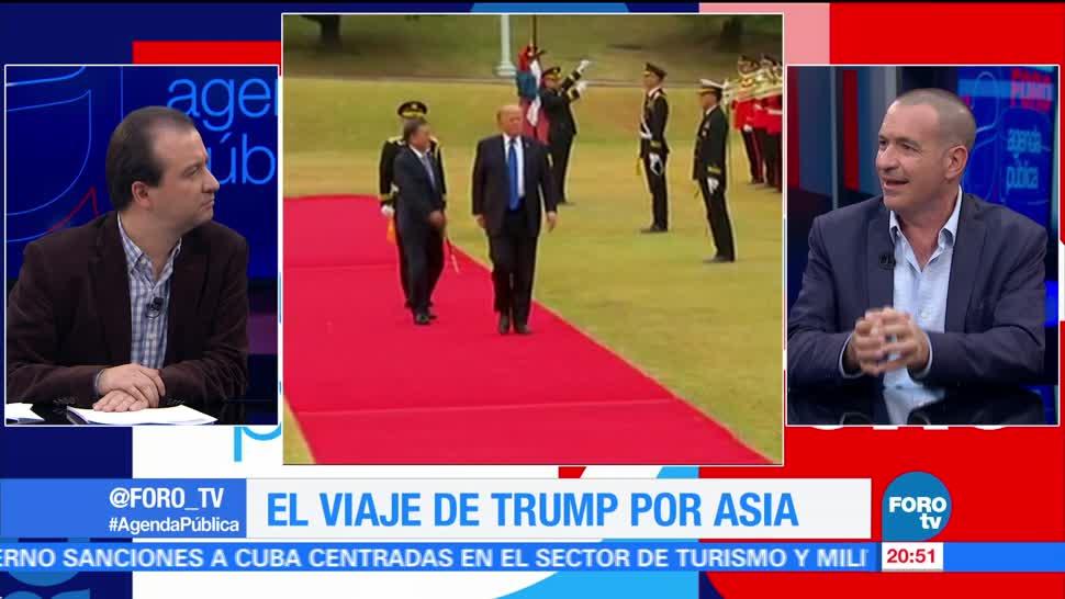 El viaje de Trump por Asia
