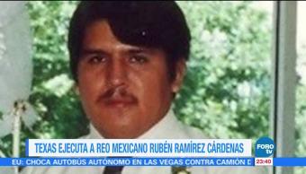 Ejecutan a Rubén Cárdenas Ramírez, en Texas
