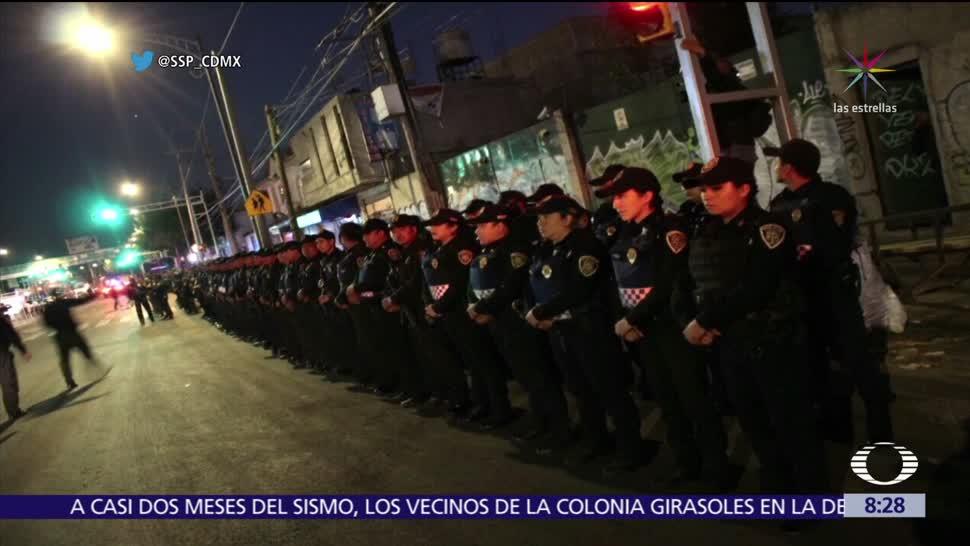 SSPCDMX despliega operativo en Iztapalapa para prevenir delitos
