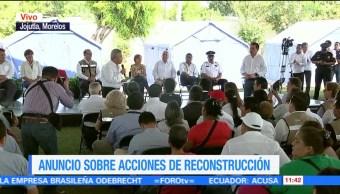 Infonavit rinde informe sobre acciones de reconstrucción tras sismos de septiembre