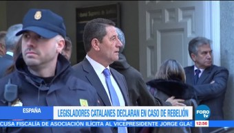 Funcionarios catalanes declaran ante el Tribunal Supremo de Madrid