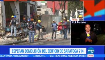 Suspende demolición de edificio Saratoga 714