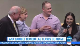 Ana Gabriel recibió las llaves de Miami