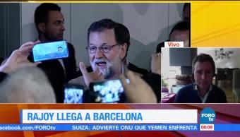 Rajoy aboga para que empresas no salgan de Cataluña