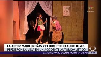 Mueren Maru Dueñas y Claudio Reyes Rubio en accidente automovilístico