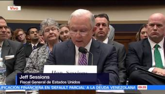 Jeff Sessions declara ante Congreso de EU