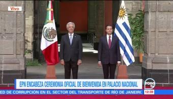 EPN recibe al presidente de Uruguay, Tabaré Vázquez Rosas