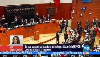 Senado pospone convocatoria para elegir al nuevo titular de Fepade