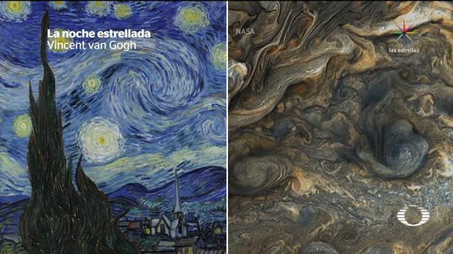 Sonda Juno recrea cuadro de Van Gogh