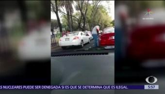 Automovilista capta intento de asalto en Canal de Miramontes, CDMX