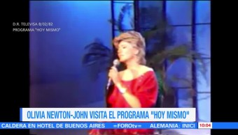 #LoEspectaculardeME: Olivia Newton-John visita el programa 'Hoy mismo'