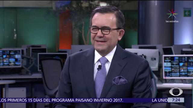 Ildefonso Guajardo, secretario de Economía, analiza en Despierta la renegociación del TLCAN