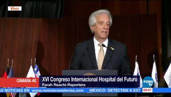 Tabaré Vázquez participa en congreso de salud en Centro Médico Siglo XXI