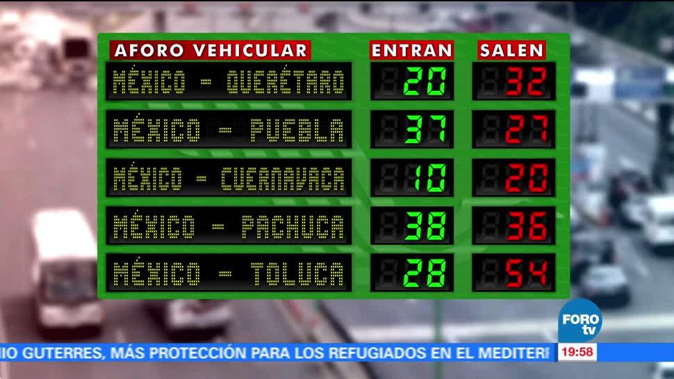 Aumenta salida de capitalinos por la México-Toluca este fin de semana largo