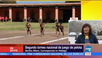 Segundo torneo nacional de juego de pelota en Hidalgo