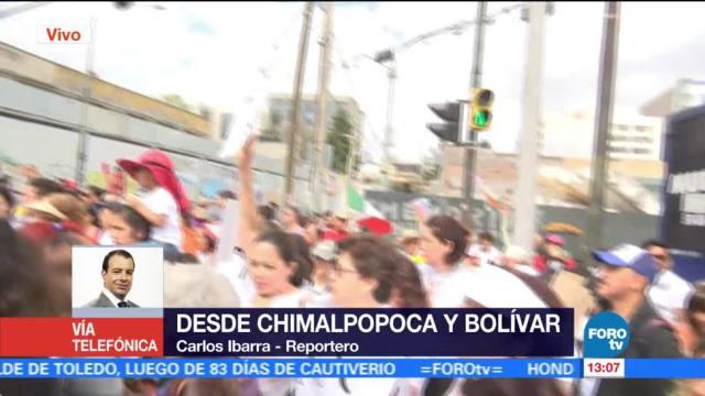Damnificados del sismo en la CDMX marchan para exigir apoyos