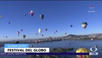 Se realiza el tercer Festival Internacional del Globo en León, Guanajuato