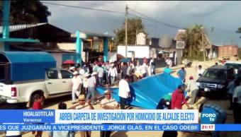 Investigan homicidio del alcalde electo de Hidalgotitlán, Veracruz