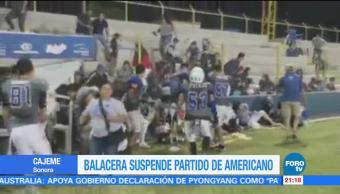 Balacera suspende partido de americano en Sonora