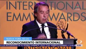Emilio Azcárraga Jean recibe premio en Nueva York