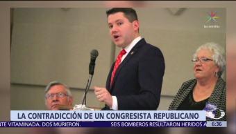Congresista homófobo renuncia por sostener relaciones en su oficina con un hombre