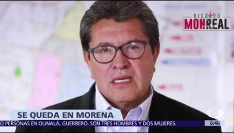 Ricardo Monreal se queda en Morena, anuncia López Obrador