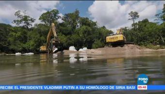 Avanzan trabajos de recuperación de las Cascadas de Agua Azul